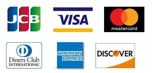 VISA/JCB/Mastercard/AMERICAN EXPRESSS/Diners Club /DISCOVER